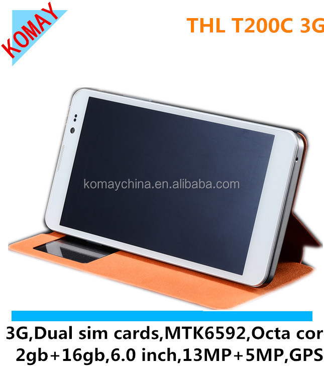 KOMAY MTK6592W 1.7GHz CPU 3G NFC thl T200C Octa-Core 6 Inch 1280x720 Android 4.2 Smartphone