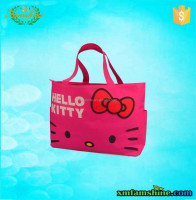 reuseable canvas hello kitty lovely shopping bag