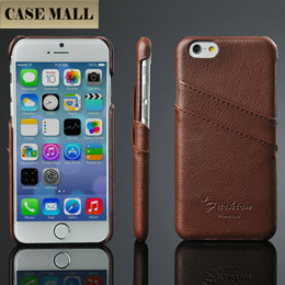 CaseMall Fresh Red Genuine Leahter Hard Back Phone Cases Cell Phone Case for Iphone 6