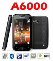 A6000 Android 2.3 WiFi Java TV CECT cell phone Black