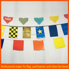 Wonderful outdoor 2 color printed pleated fan bunting