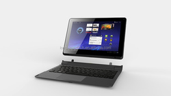 Super thin 10.1 inch android 4.4 Qual Core tablet pc with Keyboard 10inch tablet pc 2 in 1 Tablet with Keyboard