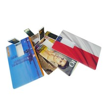 Plain white credit card usb with full color printing
