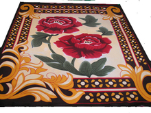 flower design cheap price wholesale 100% polyester blanket