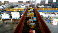 Automatic municipal waste sorting system for separating waste for sale