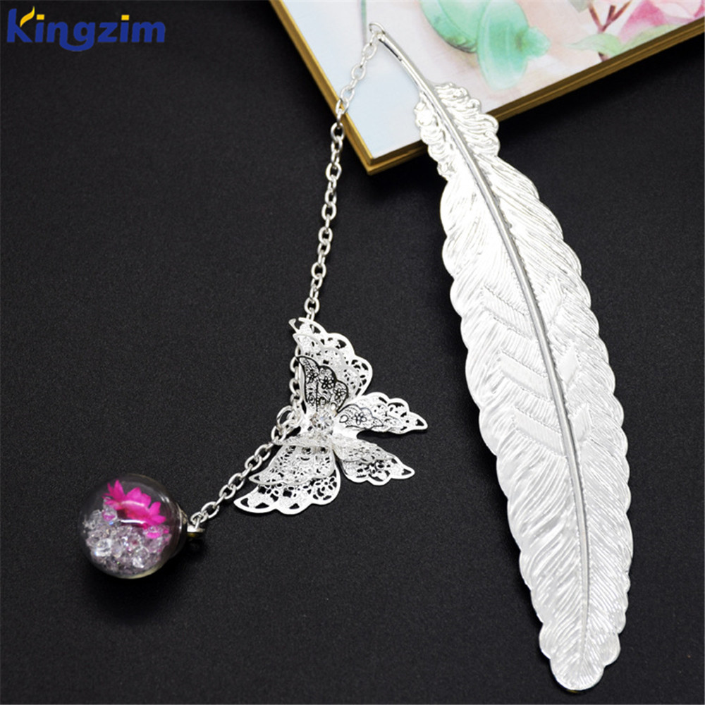Originality gift zinc alloy canada 3d gold plated custom metal leaf bookmark