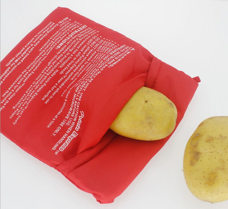 Microwave potatoes package, potato oven bags, baked potato bags
