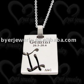Fashion Zodiac tungsten pendant jewelry