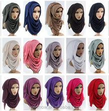Cheap Fashion Women Muslim Dubai Hijab Shawl Solid Color Infinity Jersey Turkey Scarf