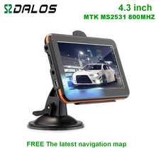 Wholesale 4.3 inch car GPS navigator Wince6.0 CPU 800Mhz built-in 128M/4GB