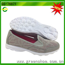 Low Price Best Selling Brand Women Flat Comfort Mesh Sport Shoes