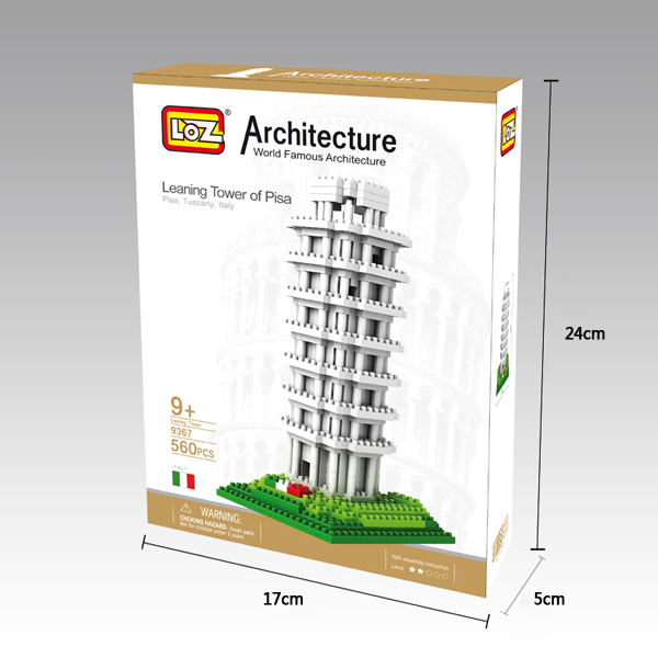 LOZ Architecture series intelligent plastic large building blocks set