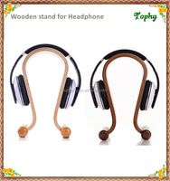 Acrylic and wood Headphone Showing Stand / Headset Acrylic Earphone Stand Display Holder