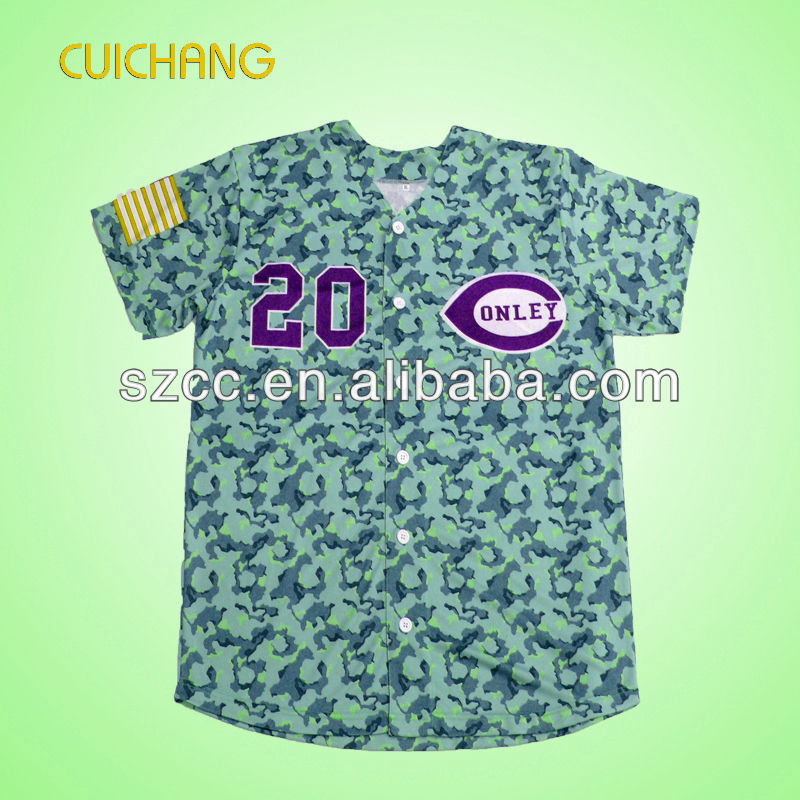 Wholesale custom sublimation baseball jerseys
