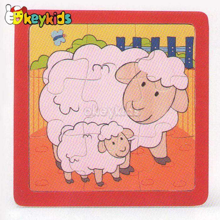 2016 wholesale baby wooden sheep puzzle, cheap kids wooden sheep puzzle, fashion children wooden sheep puzzle W14C171