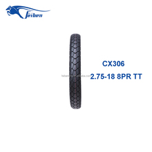 FEIBEN CHINA FACTORY TIRE CX306 NEW TIRES WHOLESALE MOTORCYCLE TIRE SUPPLIERS 2.75-18