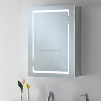 CE/UL ALUMINUM BODY led mirror cabinet bathroom furniture