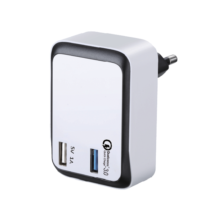 Phone Accessary Qualcomm Quick Charge 3.0 Dual USB Wall Charger QC3.0