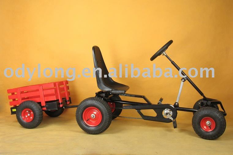 new design children pedal go kart with trailer (F120AT)