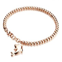 Marlary Jewelry Wholesale Stainless Steel Gold Bracelet Designs Women European Charm Bracelet