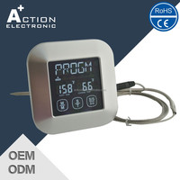 The ORIGINAL Oven & BBQ Touchscreen Digital Meat Cooking Thermometer and Timer