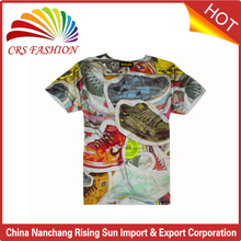 New style cheap t-shirts with shoes picture oem custom 3d printing t shirt