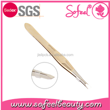 sofeel Professional Slanted Stainless Steel Eyebrow tweezers