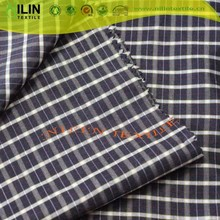 100%polyester yarn dyed checked design shirts for women