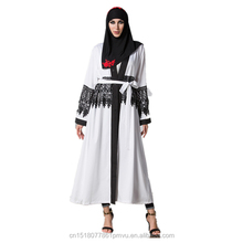 Muslim New Model Printed Abaya with Lace In Dubai 2018