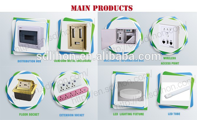 Outdoor use electrical distribution box IP65