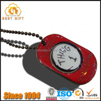 Hot Sale Factory Price Newest Design Metal Red Enamel Dog Tags