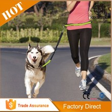 Colorful footprints dog collar and leash led , dog bike leash