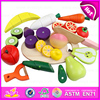 2015 Simulation kids wooden fruit and vegetable toys, high quality wooden kitchen toys set W10B111