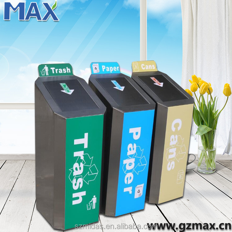 Rust-proof lixo outdoor large collector dusty bin color codes for waste bins