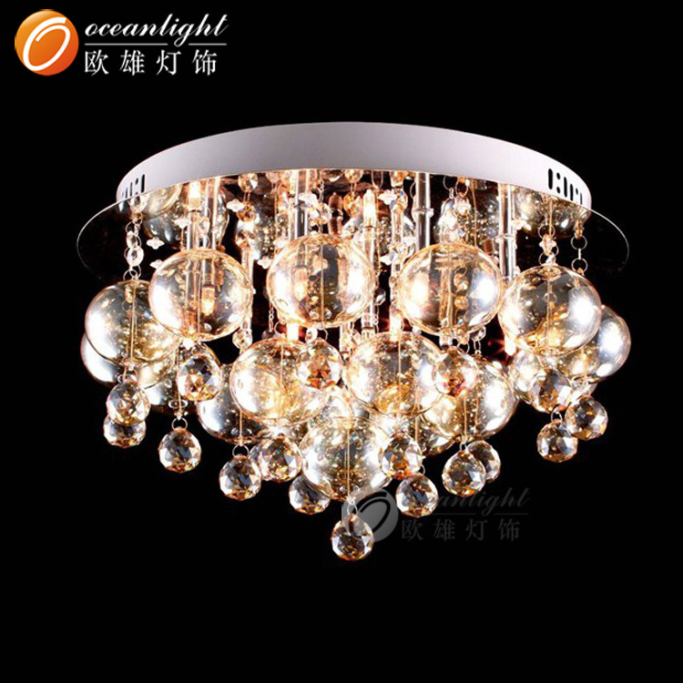 Modern Art Glass Chandelier,Hanging Crystal Ball Chandelier ...