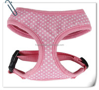 Sexy soft cloth dog body harness with dot,half body harness with heart pattern