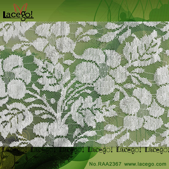 Latest Jacquard Raschel Knitting Lace Fabric For Fashion Dress