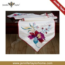 shinning and silk fabric embroidery dinning room table runner