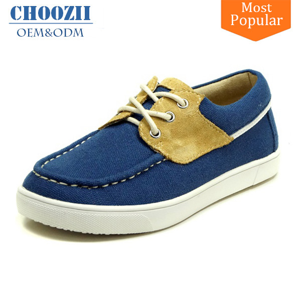 Choozii Customize Classic Comfortable Kids Navy Canvas Deck Shoes