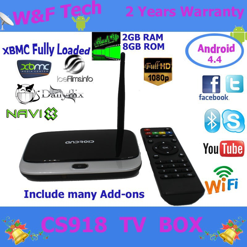 2014 Cheapest android smart tv box quad core rk3188 tv box CS918