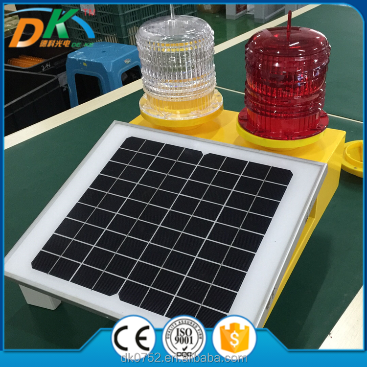 Solar Powered LED Aviation obstruction warning light,for tower crane