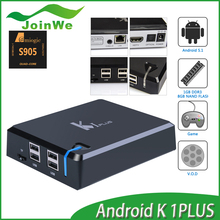 JW Hot Sale Best Gift K1 Plus Android5.1 Tv Box 1gb 8gb Amlogic S905 Quad Core 64 Bit Set Top Box 2.0 Lollipop 905 Tvb