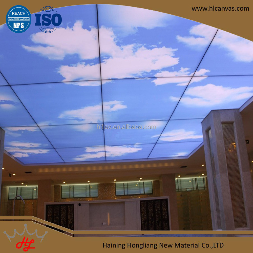tiles and building material 3d wallpaper for home decoration barrisol stretch ceiling film