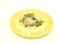Wholesale High Quality Custom TWO SIDE DESIGN Zinc Alloy Gold Military Coin Medal