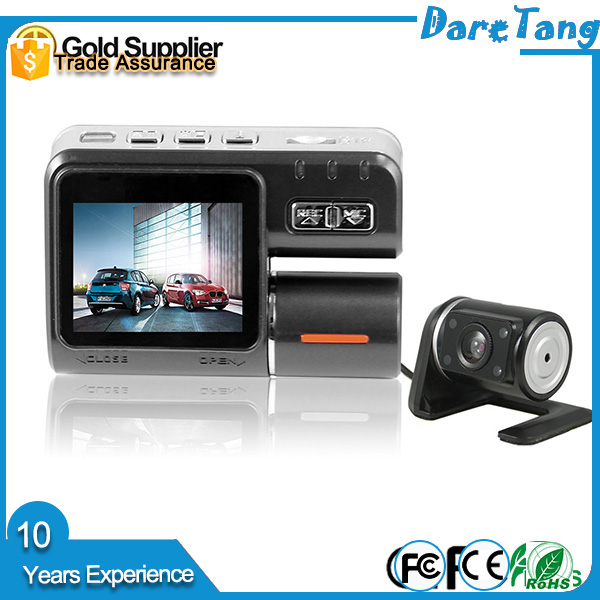Hot Full HD 1080p Car Dvr Dual Camera 2 Dual Lens Dash Cam I1000 For Vehicle Video Recorder Car Black Box Dvr Two Cameras