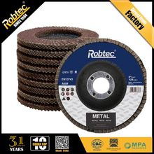 "Metal/Steel/Stainless Stee10 Pack 4-1/2"" ROBTEC Sanding Flap Discs 80 Grit Made In China (Zariconium or Aluminum Oxide Abrasive)"