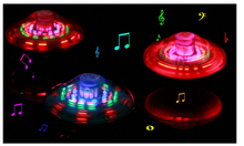 Laser Color Flash LED Light Music Gyro Peg-Top Spinning Kids Toy