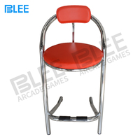 Manufacturer Direct Wholesale Classic Stainless Steel Red Padded Slot Machine Casino Chair