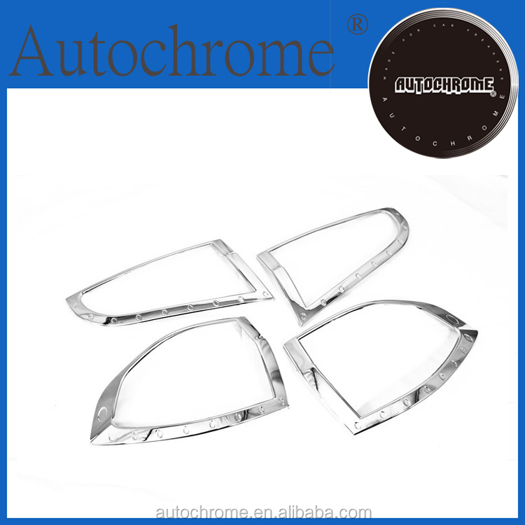 Factory price car auto exterior car accessory chrome tail lamp cover - for For d S-MAX
