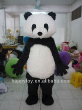 Hi ce precioso panda cartoon mascot